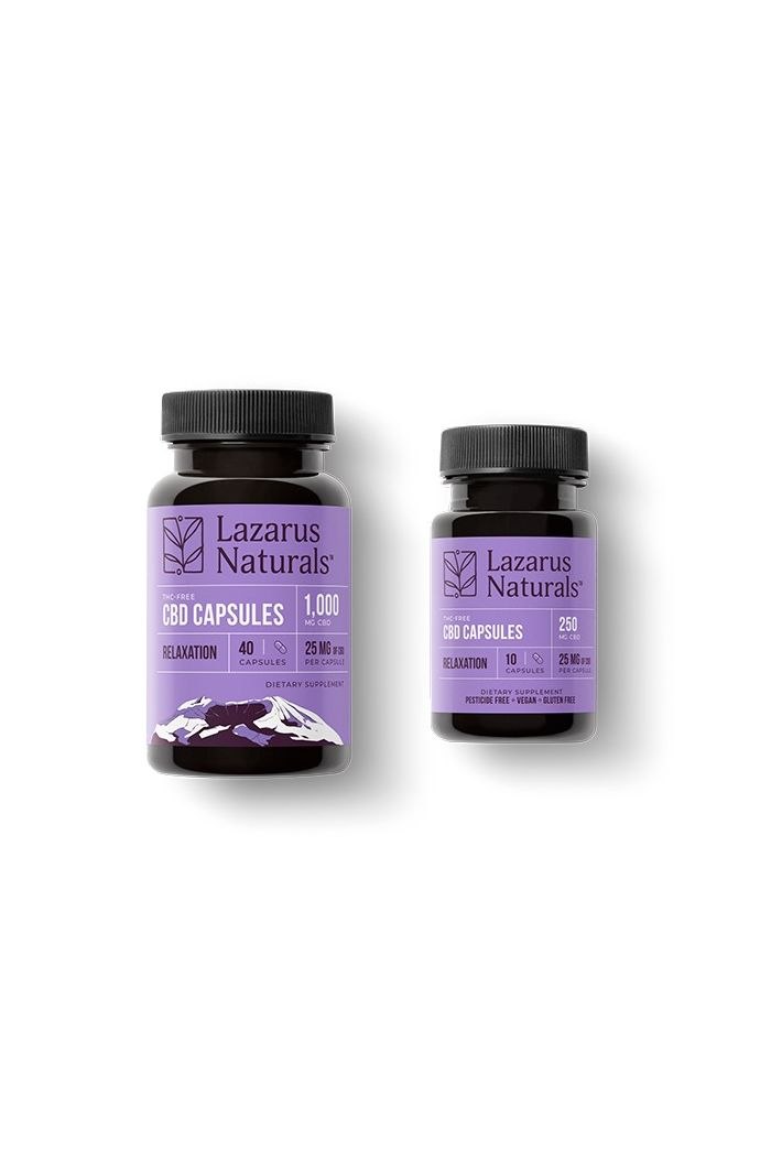 Lazarus Naturals CBD Capsules - Relaxation Blend - 25mg